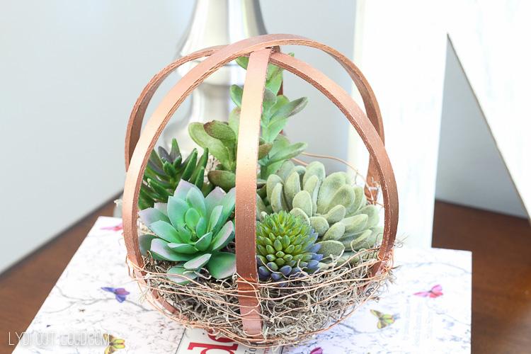 Embroidery Hoop DIY Terrarium Globe
