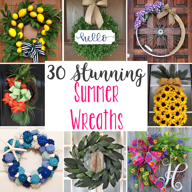 30 stunning summer wreaths lydi out loud for Diy summer wreath
