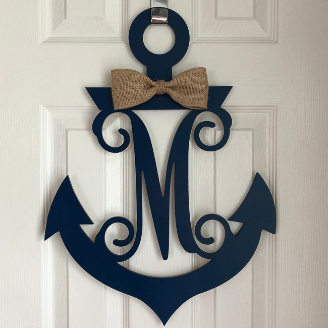 Monogram Nautical Wreath