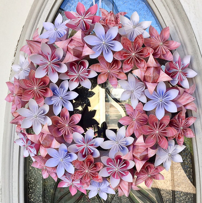 Origami Summer Wreath