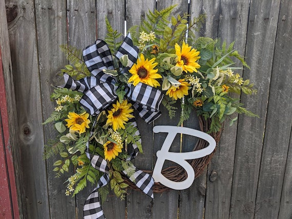 Personalized Summer Wreath