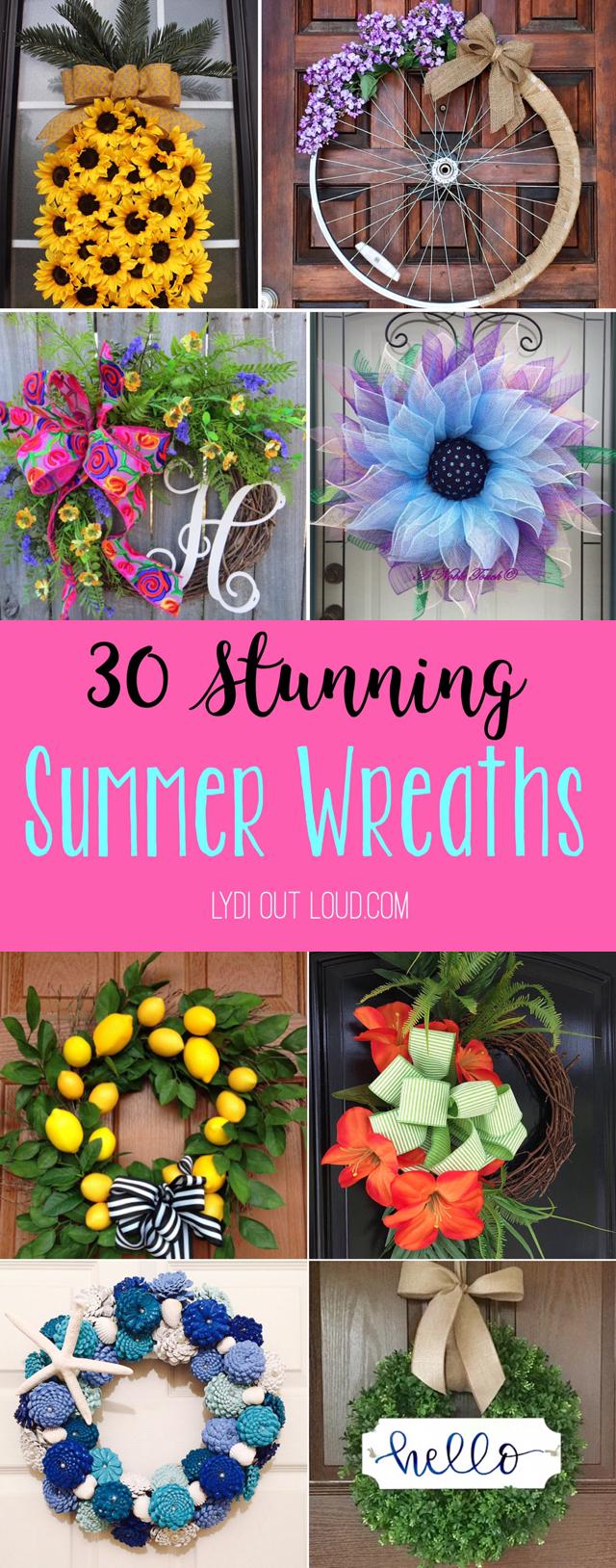 foto de 30 Stunning Summer Wreaths Lydi Out Loud