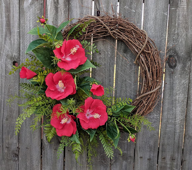 Tropical Hibiscus Summer Wreath