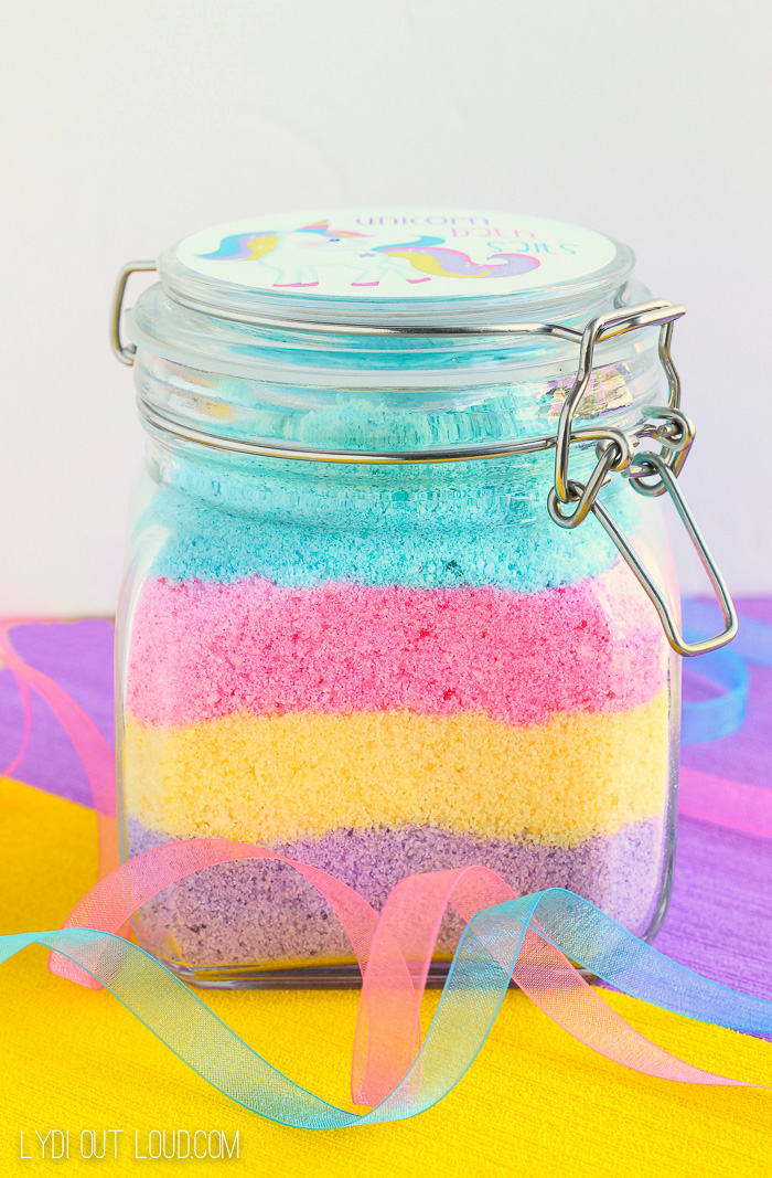 Unicorn Fizzy Bath Salts With Printable Label Lydi Out Loud