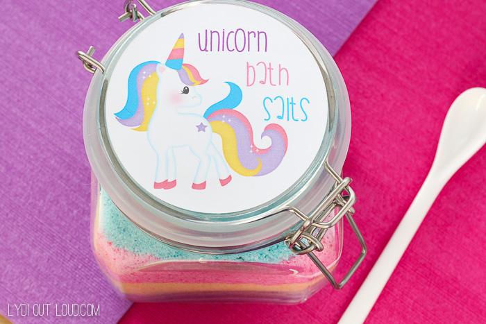 Unicorn Fizzy Bath Salt - so cute!