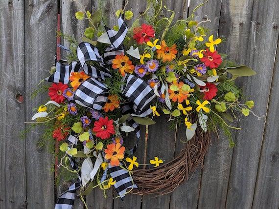 Wildflower Farmhouse Wreath