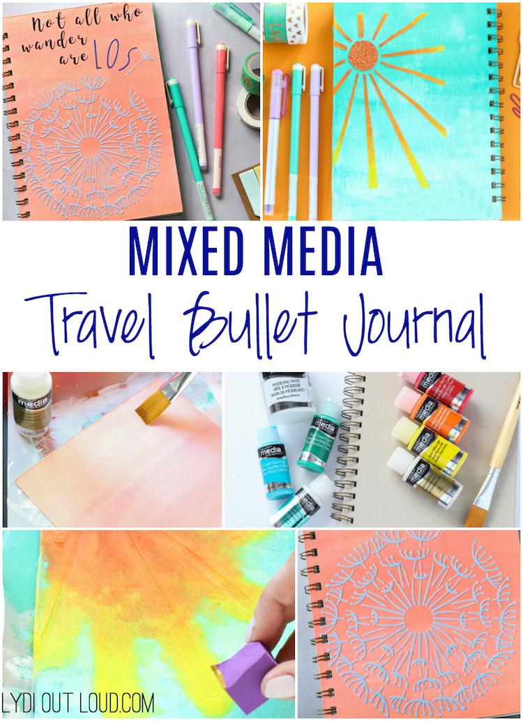 Mixed Media Travel Bullet Journal