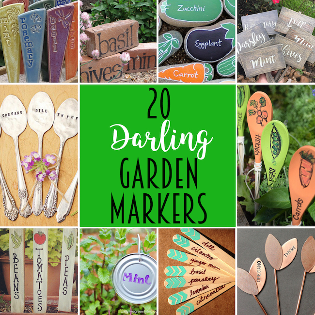 20 Darling Garden Markers to Decorate Your Garden