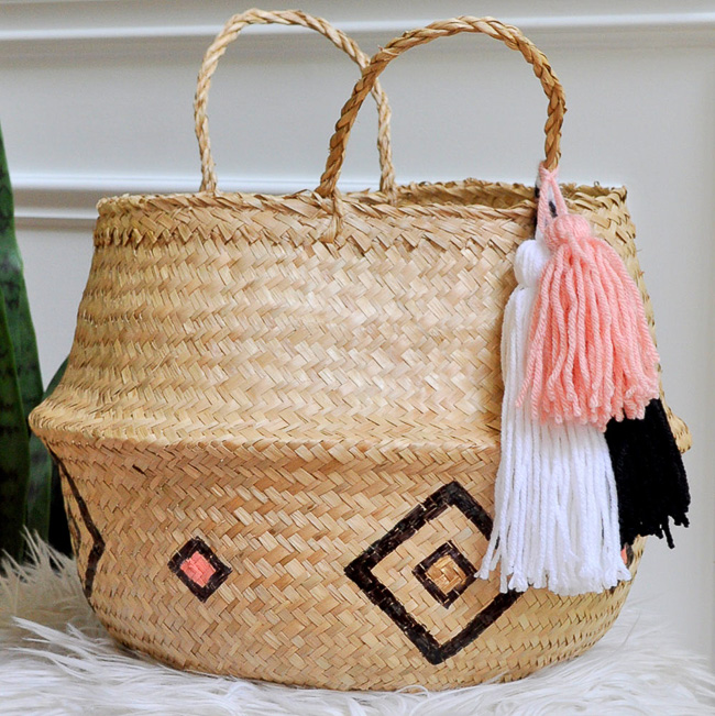 Bohemian Style Basket - Made in a Day