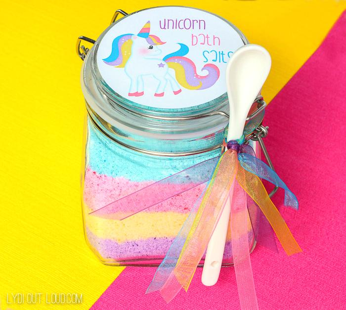 Unicorn Fizzy Bath Salts with Printable Label
