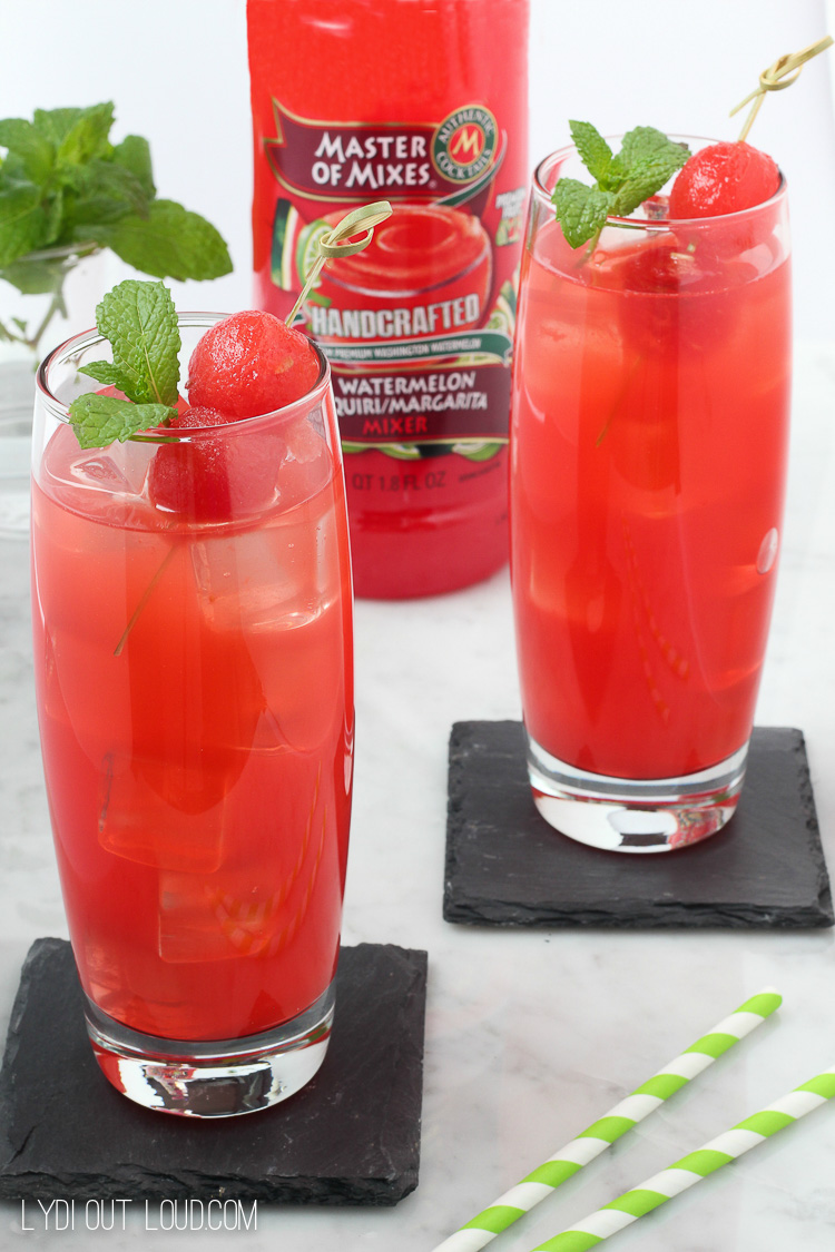 Refreshing Watermelon Mint Vodka Gimlet