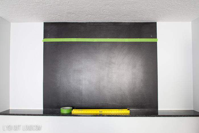 Chalkboard Accent Wall Score Board