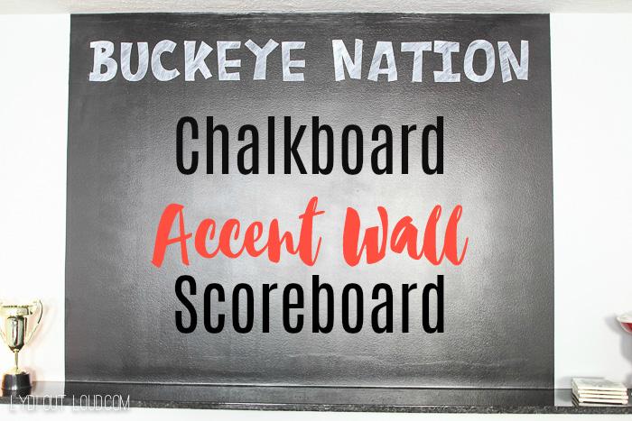 Chalkboard Accent Wall Scoreboard
