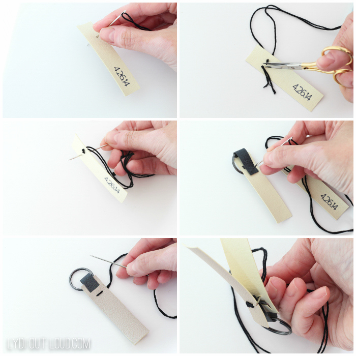 Leather Key Fob gift idea tutorial