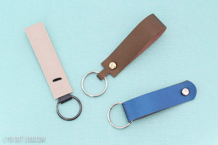 DIY Leather Key Fob - perfect for a 3 year anniversary gift!