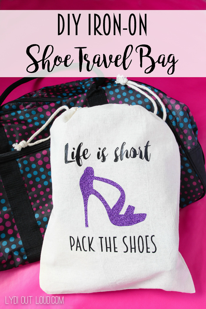 DIY Iron-on Shoe Travel Bag