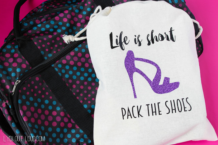 DIY Iron-on Travel Bag for Shoes