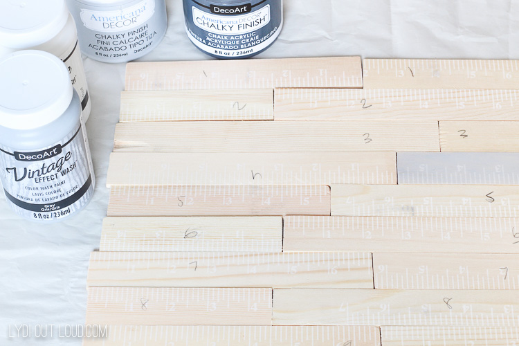Slatted tray made from paint stir sticks!