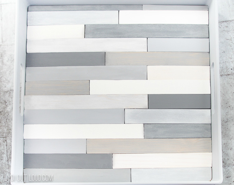 Vintage Effect Paint Stick Slatted Tray