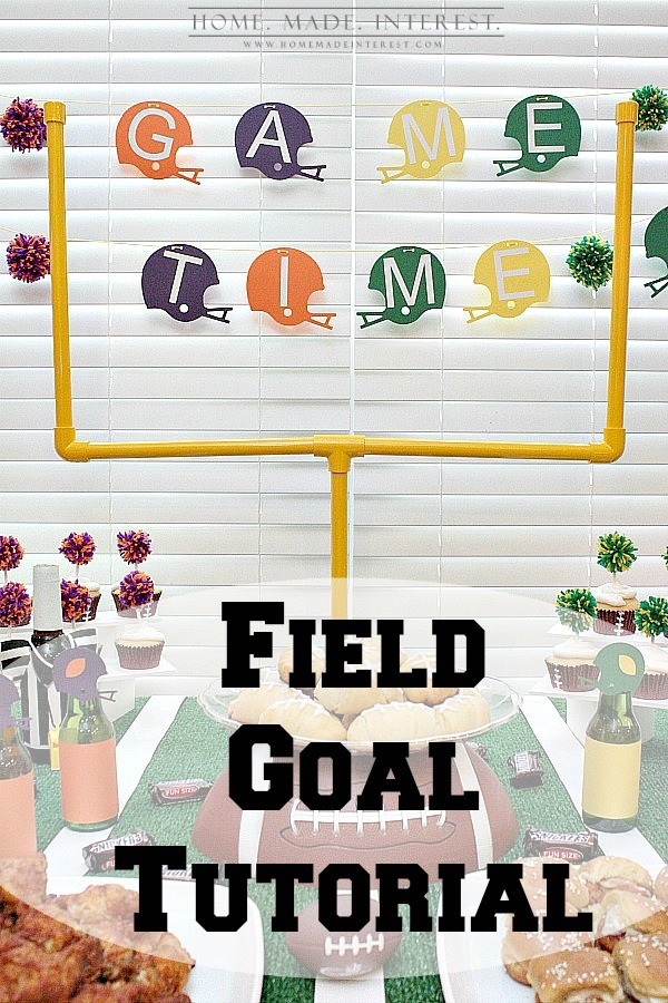 DIY Field Goal for Football Party