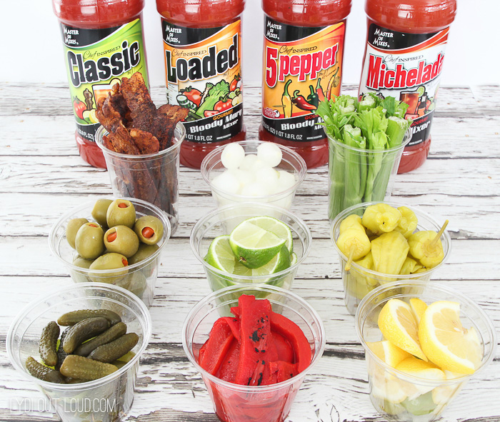 Delicious Bloody Mary Bar!