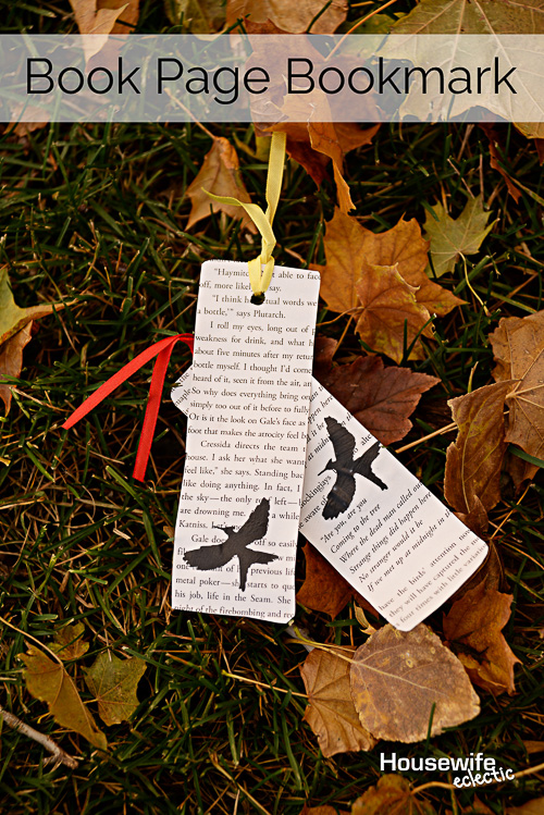 Book Page Bookmarks - Housewife Eclectic