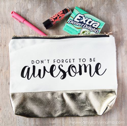 Don't Forget to Be Awesome Clutch - Arsty-Fartsy Mama