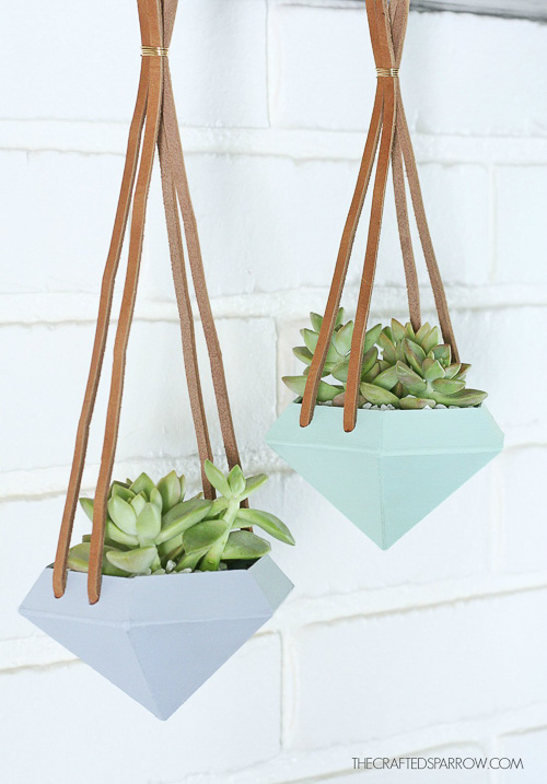 Diamond Hanging Planters - The Crafted Sparrow