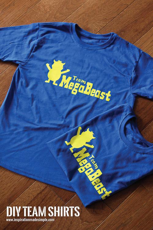 DIY Team T-shirts - Inspiration Made Simple