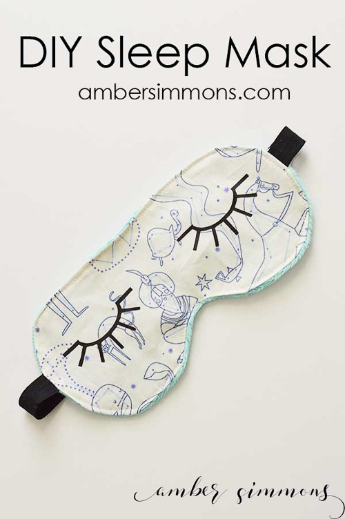 DIY Sleep Mask - Amber Simmons
