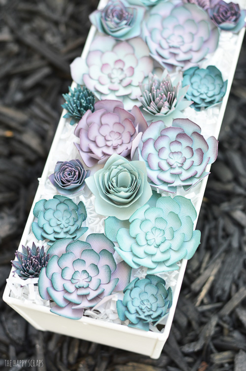 Paper Succulent Centerpiece - The Happy Scraps