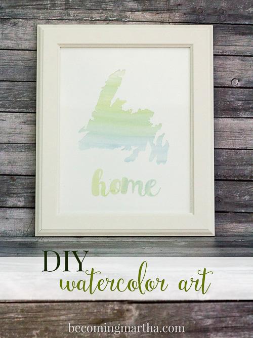 DIY Watercolor Art - Becoming Martha