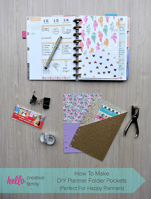 DIY Planner Folder Pockets - Hello Creative Family