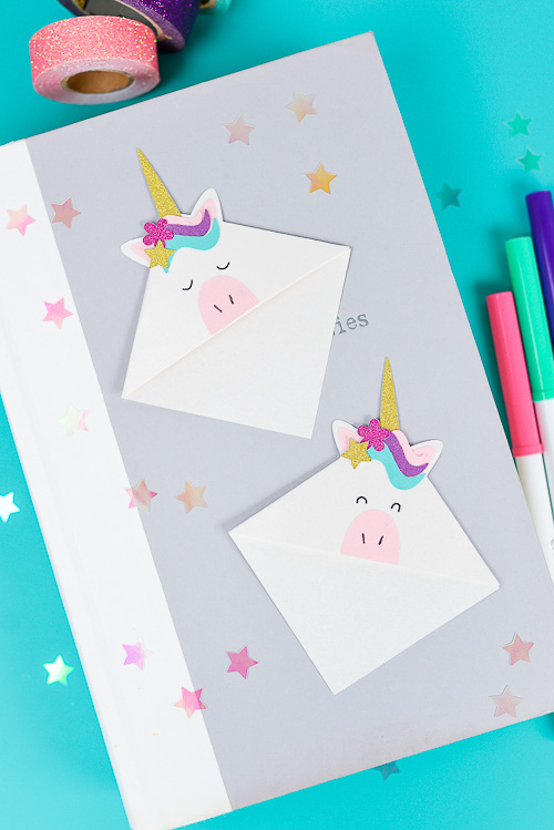 Unicorn Bookmarks - Hey, Let's Make Stuff