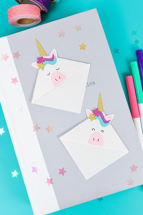 Unicorn Bookmarks - Hey, Let's Make Stuff