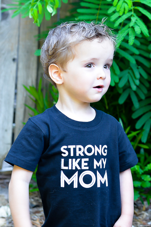 Strong Like My Mom T-shirt - Hey, Let's Make Stuff