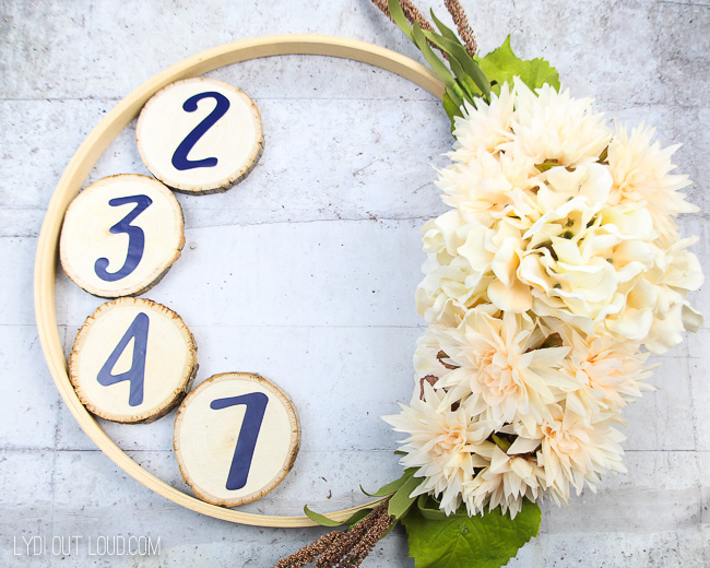 Address Wood Slice Embroidery Hoop