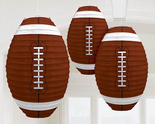 Football party paper lanterns