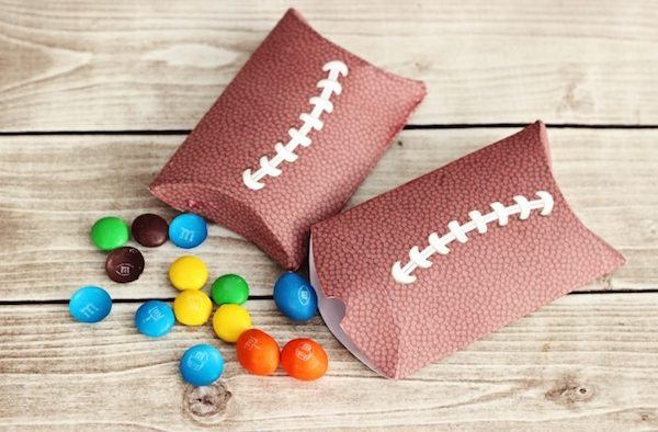 Printable Football Snack Pouches