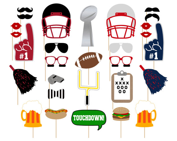 Football Party Photo Booth Props