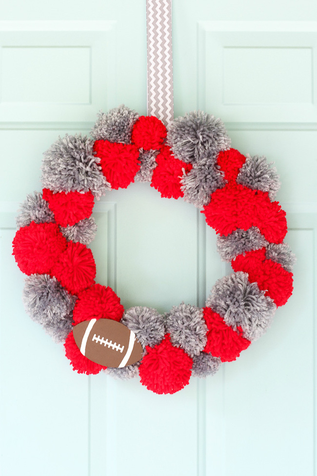 Ohio State Buckeyes Football DIY Wreath