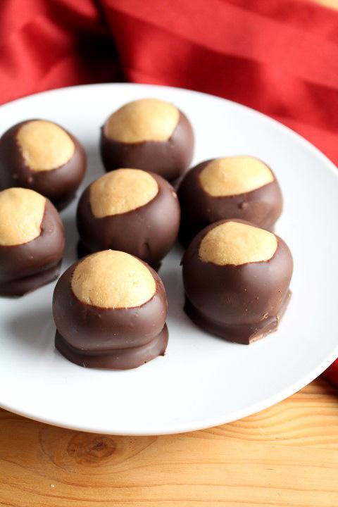 Buckeyes - Chocolate Peanut Butter Balls
