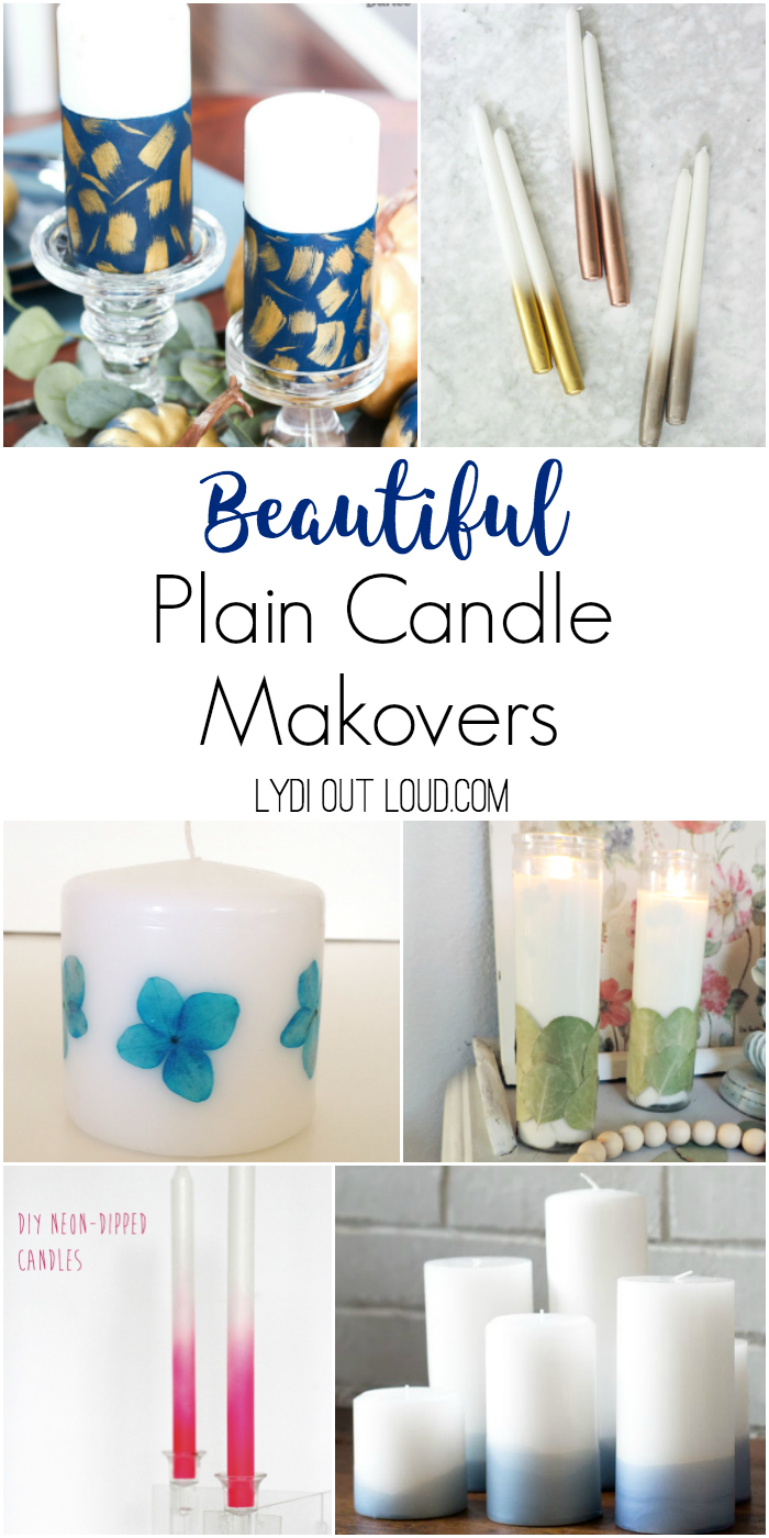 10 Stunning Plain Candle Makeovers