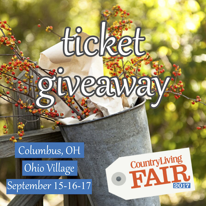 Country Living Fair Columbus Ticket Giveaway!