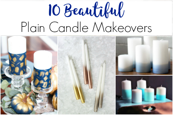 Dress up Plain Candles with Candle Makeovers