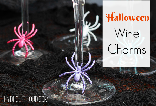Spider Halloween Wine Charms
