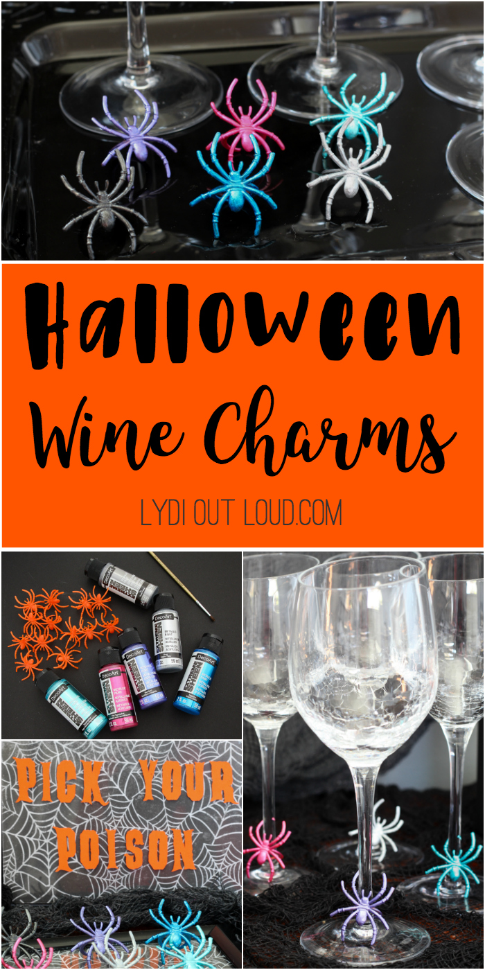 DIY Halloween Wine Charms - Lydi Out Loud
