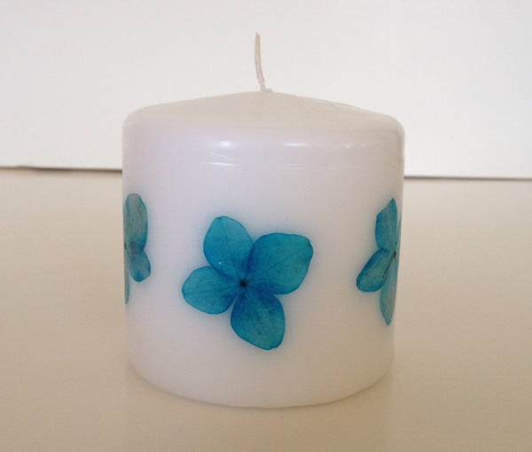 Pressed Flowers Candle