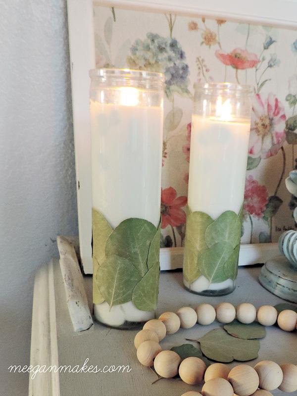 DIY Eucalyptus Candles