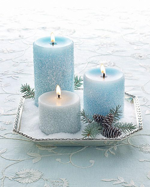 Frosty Salted Candles DIY